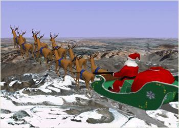 El camino google de Santa Claus